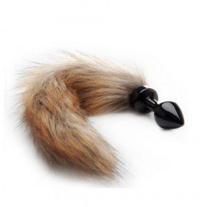 Ouch Plug anal avec queue en fourrure renard