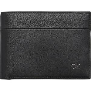 Calvin Klein Portefeuille en cuir logo Noir
