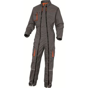 Delta Plus Combinaison Mach 2 double zip insertion genouillère Gris Orange Taille M
