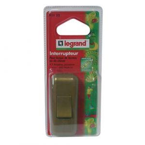 Legrand Interrupteur pour lampe - 2 A - vieil or - Accessoire luminaire