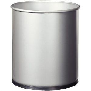 Rossignol Corbeille à papier métal gris 15l