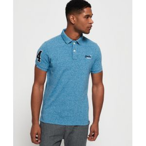 Superdry Classic Pique Polo Blu (Sea Spray Grit S2p) XL Homme