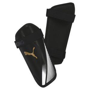 Puma Protège-tibias King ES 2, Noir/Blanc/Or, Taille S |