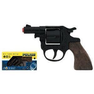 Gonher Pistolet de Police en métal et plastique 8 coups