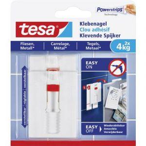 Tesa Clou adhésif ajustable 77767-00000-00 blanc 1 l'ens.