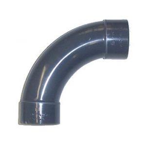 Centrocom Coude courbe en PVC à 90° - Femelle à coller / Femelle à coller - Diamètre 40 mm