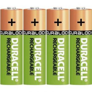 Duracell 4 piles rechargeables 1.25V AA 1300 mAh