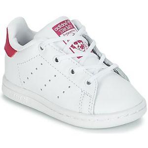 Adidas Stan Smith - Basket Mode - Enfant - Blanc (Ftwbla/Rosfue 000), 23.5 EU