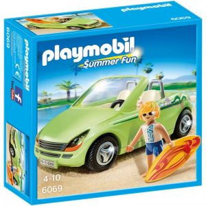 Playmobil 6069 Summer Fun - Surfeur et voiture décapotable