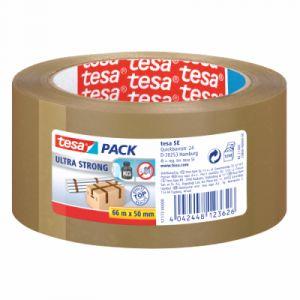 Tesa 57177-00000-11 - Ruban adhésif Pack Ultra Strong, 50 mm x 66 m, en PVC marron
