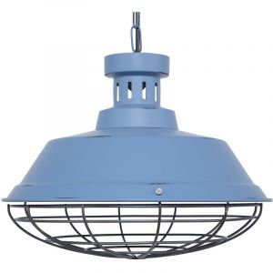 Beliani Lampe suspension bleu SORMONNE