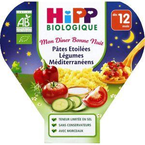HiPP Biologique Mon dîner Bonne nuit : Pâtes étoilées légumes méditerranéens 230g - dès 12 mois