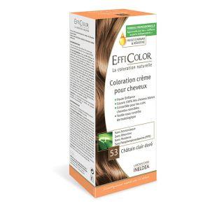 EffiColor Châtain Clair Doré N°53 - Coloration crème pour cheveux