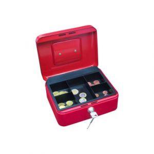 Wedo 145202X Caissette à monnaie à 5 compartiments 20 x 16 x 9 cm Rouge