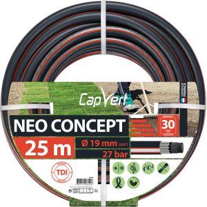 Cap Vert Tuyau d'arrosage Néo Concept - Diamètre 19 mm - Longueur 25 m