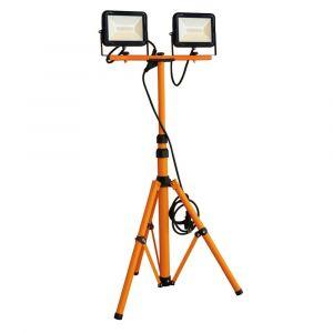Tibelec Projecteur LED sur Pied Télescopique 2x20W