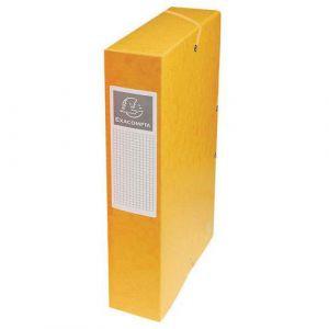 Exacompta 50609E - Boîte à élastique EXABOX, carte lustrée, dos de 60, coloris jaune