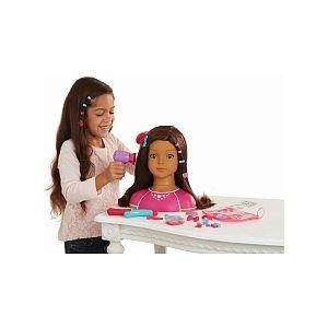 Toys R Us Dream Dazzlers tête à coiffer et à maquiller brune ( 50 pièces)