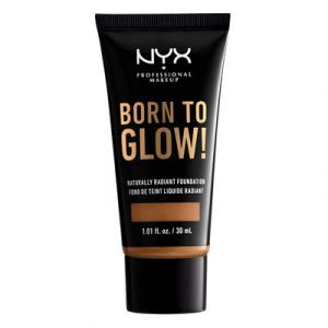 NYX Cosmetics Born To Glow Naturally Radiant Fondation Fond de Teint Fluide - Almond - Transparent