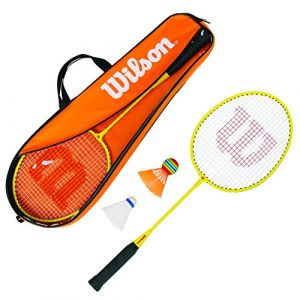 Wilson Raquettes de badminton Starter Kit Junior - Orange / Yellow - Taille 3