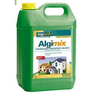 Algimouss Algimix antimousse toitures murs et façades concentré à diluer bidon de 5 L