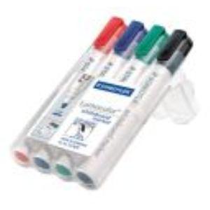 Staedtler 4 marqueurs Lumocolor effaçable à sec couleur assortis pointe ogive