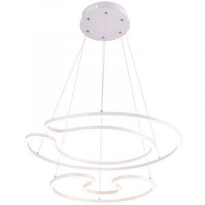 Globo Luminaire suspendu LED blanc mat, forme en U, diamètre 67 cm