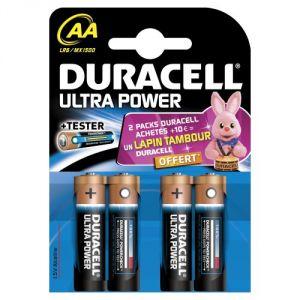 Duracell 4 piles AA LR06 Ultra Power