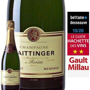 Taittinger Champagne AOP, brut - La bouteille de 75cl avec étui