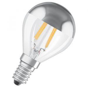 Osram Ampoule LED E14 standard Déco calotte argentée 4 W équivalent a 34 W blanc chaud - Culot : E14 - Puissance : 4 W - Equivalence : 34 W - Flux lumineux : 380 Lm.