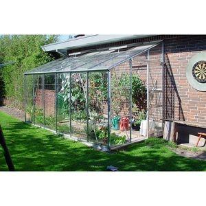 Juliana Royal 612 - Serre adossée de 7.20 m² en verre clair jardinier