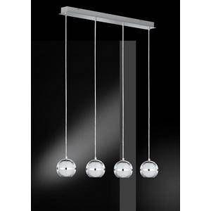 Wofi Suspension 4 lampes led Fulton Chrome Métal 7740.04.01.0000