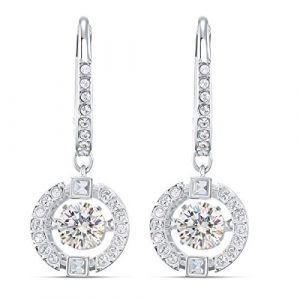 Swarovski Boucles d'oreilles 5504652 - Boucles d'oreilles métal argenté rond strass blanc Femme