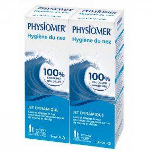 Physiomer Jet Dynamique pour hygiène nasale (Lot de 2 x 135 ml)