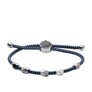 Diesel Bracelet Bijoux DX1140040 - Bracelet Nylon Bleu HOMME