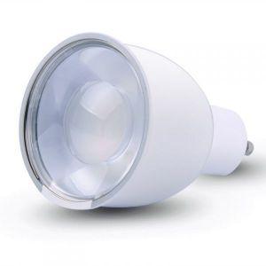 New Deal Ampoule spot Led RGB GU10 connectée pour kit Wi-Fi EzLed-K9 - Led 4W GU10 - 64 millions de couleurs - Dimmable - 240lm - Corps en alliage d'aluminium - Dimension : 48x78mm.