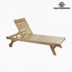Craftenwood Chaise Longue en Bois de Peuplier