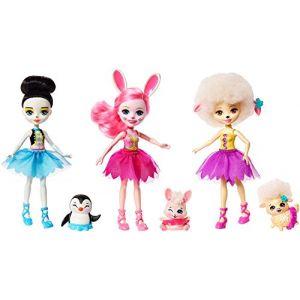 Mattel Enchantimals - Coffret 3 Mini-poupées et animaux