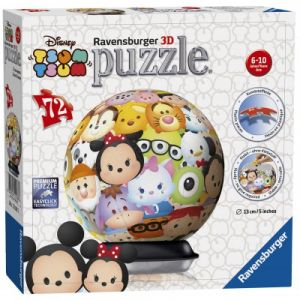 Ravensburger Puzzle Ball 3D Disney Tsum Tsum 72 pièces