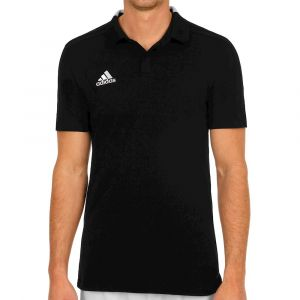 Adidas BQ6565 Chemise Polo Homme, Noir/Blanc, FR : L (Taille Fabricant : L)