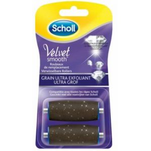 Scholl Rouleaux de remplacement Velvet Smooth grain ultra exfoliant (2 recharges)