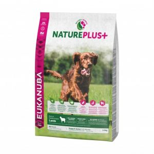 Eukanuba Natureplus - Croquettes avec agneau pour chiot et chien junior - Sac 2,3 kg