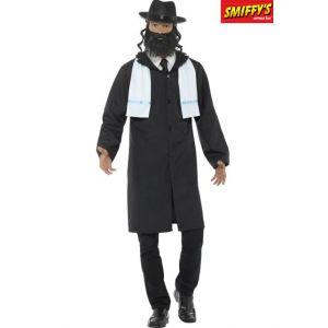 Smiffy's 44689M Déguisement Homme, rabbin M Black