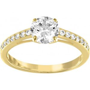 Swarovski Attract Gold - Bague dorée avec cristaux pour femme