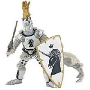 Papo Figurine Maître des armes cimier licorne argentée