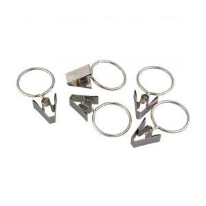 PVM 6 anneaux pince rideau en nickel (20 mm) - Comparer avec ...