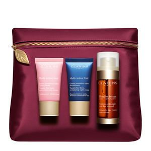 Clarins Coffret Multi-Active jour, Multi-Active nuit et Double Sérum