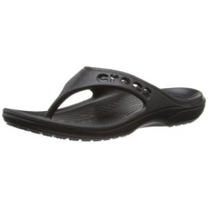 Crocs Baya Flip, Tongs Mixte Adulte,Noir (Black), 48-49