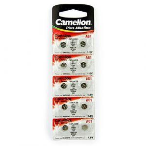 Camelion 10 AG1 / LR60 / 164 / 364 / LR621 pile bouton, longue durée de conservation (date d'expiration marqué)