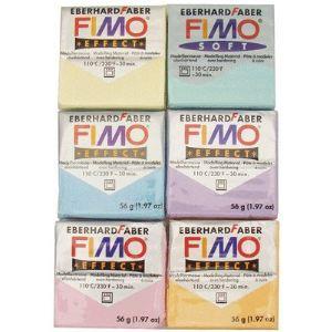 Staedtler 6 blocs de pâte à modeler Fimo Soft 56 g